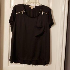 Black Michael Kors short sleeve blouse